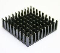 10pieces 35x35x10mm  IC bulk aluminum black heat sink LED power transistor