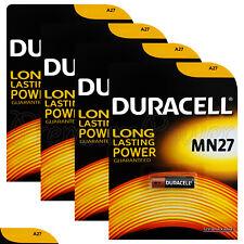 4 x Duracell Alkaline MN27 12V batteries A27 GP27A E27A EL812