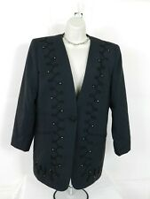 Womens Black Blazer EXECUTIVE COLLECTION Size 12 One Button