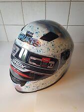 Pintado Personalizado un casco de Moto Off!!! Pitufos Nueva!!!!! Shox