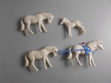 Lego® Belville Zubehör 4x Pferde