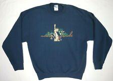 RARE vtg 90s Sweatshirt NEW YORK City TWIN TOWERS Manhattan skyline NYC