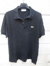 Polo LACOSTE Devanlay noir made in France manches courtes coton jersey 6