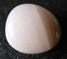 PINK MANGANO CALCITE  (12.2 grams / 25 mm) NATURAL TUMBLESTONE (2)  'ANGELIC'
