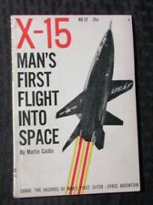 1959 X-15 Man's First Flight Into Space by Martin Caidin VG+ 4.5 Ridge Paperback