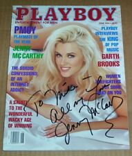 JENNY McCARTHY SIGNED 1994 Playboy Magazine Cover AUTOGRAPH To Mike All My Love