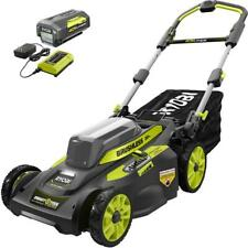 Ryobi 20 in 40-V Cordless Smart Self-Propelled Walk Behind Mower Battery/Charger