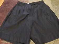 WESTBOUND, WOMEN'S Black Polyester Bl Dressy Bermuda Shorts, W/Pkts Size 8