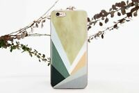 Geometric iPhone 7 8 Plus Silicone Cover Wooden iPhone 6 6s Case iPhone X XS XR