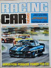 Racing Car News Feb 1977 Leyland Morris Mini,Ford Capri, Holden Torana & more