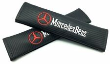 Mercedes-Benz  Leather Carbon Fiber Seat Belt Covers/High Quality