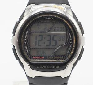 Casio Men's Watch WV58A Wave Ceptor 43mm Quartz Digital Black Resin Strap