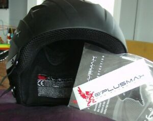 new paragliding helmet Plusmax XS matt black without ear covers