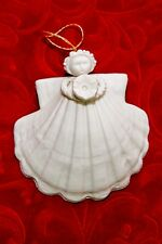 "Margaret Furlong 1996 Shell Angel Morning Glory Christmas Ornament - 3"" Euc"