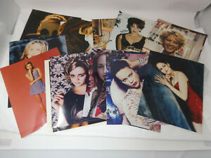 LOT OF 16 GLOSSY COLOR PHOTOS MOVIE STARS ACTRESSES MODELS 1990'S 01