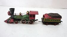 Mantua Locomotive Engine #3960 and Tinder Coal Car #3240 Red & Green Model Ho