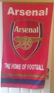 ARSENAL FC  BEACH BATH TOWEL 100% COTTON FOOTBALL CLUB CREST