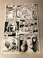 DOORWAY TO NIGHTMARE #5 original art MADAME XANADU DAY OF DEVILS 1978 SIGNED