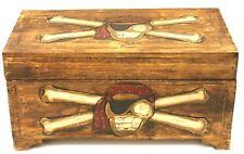 Truhe Schatzkiste Holzkiste Holztruhe Piratenkiste Box Piratentruhe 50 cm