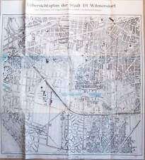Übersichtsplan der Stadt Deutsch Wilmersdorf 1909 Berlin Stadtplan Plan Karte RP