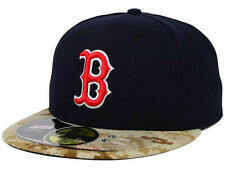 New Era Boston Red Sox Navy/Camo 59FIFTY Fitted TECH Hat/Cap Mens 7  Nice!