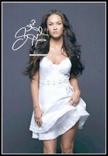 Megan Fox, Autographed, Pure Cotton Canvas Image. Limited Edition (MF-402)