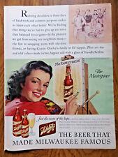 1943 Schlitz Beer Ad The Masterpiece 1943 Alcoa Aluminum Ad Naval Convoy WW 2