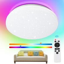 LED Deckenleuchte mit Fernbedienung Deckenlampe Wohnzimmer Badleuchte 24W RGB