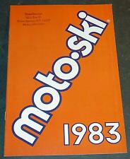 1983 MOTO-SKI SONIC & ULTRA SONIC SNOWMOBILE SALES BROCHURE 12 PAGES  (412)