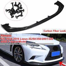 Carbon Fiber Look Front Bumper Lip Splitters For LEXUS IS250 IS350 IS300 F Sport