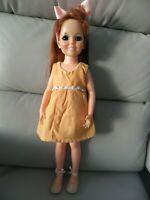 "Vintage 18"" Doll Ideal Crissy HP Look Around Red Hair -1970"