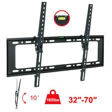 "LCD LED Plasma Flat Tilt 10°TV Wall Mount Bracket 32 42 50 55 60 65 70"" Screen"