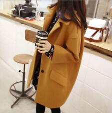 Women Wool Blend Korean Thicken Trench Coat Winter Warm Jackets Outwear Fashion