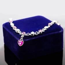 Fashion Imitation Rhinestone Mystic Heart Crystal Silver Plated Bracelet Jewelry