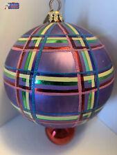 Christopher Radko Ornament Plaid Drop, Vintage Christmas 6' tall