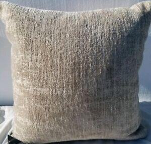 Hallmart Collectibles Chenille Jacquar Driftwood Decorative Pillow- Yellow Gray