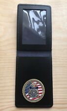 TV Film Prop Leather Warrant Card Wallet With American FBI Agency Badge.