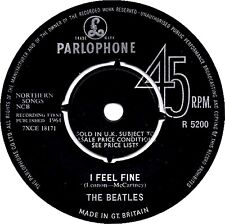 "7"" - The Beatles - I Feel Fine / She's a Woman (BEAT) 1ST PRESSING 1964 MONO,VG+"