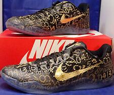 Nike Kobe XI 11 Mamba Day QS iD Black Gold SZ 11.5 ( 865773-991 )