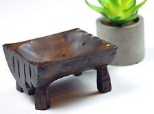 Rustic Soap Dish Handmade reclaimed Teak Wood
