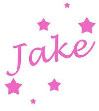 Personalised Name/Stars Wall Art, Boys/Kids Bedroom,Custom Vinyl Sticker
