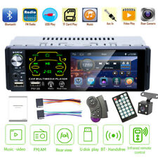 4.1'' Single 1DIN Car Stereo MP5 Player Touch Bluetooth FM Radio USB AUX +Camera