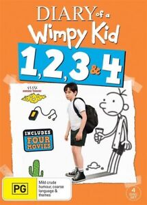 Diary Of A Wimpy Kid 4 Movie Collection BRAND NEW Region 4 DVD 1 2 3 4