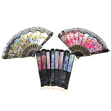 Spanish Flower Lace Folding Hand Dancing Wedding Party Decor Fan Xmas Ltu