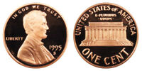 1995-S Proof Lincoln Memorial Cent Penny Deep Cameo , FREE SHIPPING!