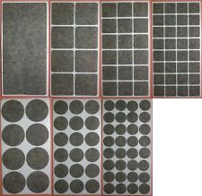 Filzgleiter selbstklebend 12 Größen zur Auswahl GRAU Klebe-Filz Möbelgleiter