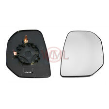 PEUGEOT PARTNER 2009->2011 DOOR MIRROR GLASS SILVER, HEATED & BASE,RIGHT SIDE