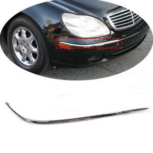 Right Front Bumper Chrome Mouldings Trim Fit For Mercedes Benz S W220 2002-2005