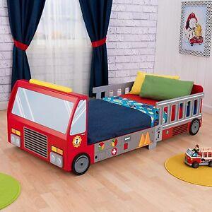 Toddler Bed Fire Truck Boys Kids Children Bedroom Game Car Furniture Disney New