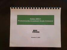 Bear Stearns CDO Pitchbooks from 2003 - 2008 financial crisis memorabilia